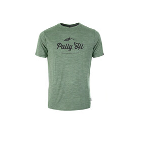 Pally'Hi Classic Peak Logo T-Shirt Heren, heather moss